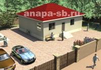 Одноэтажный дом 91.6 кв.м.