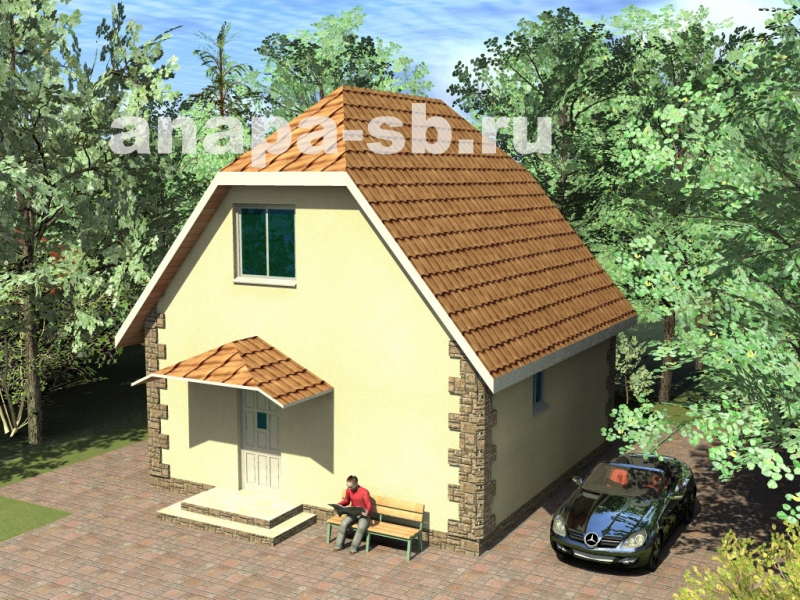 1.5 этажный дом