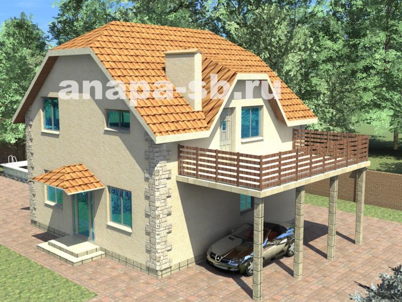 1.5 этажный дом с балконом 123 кв.м.
