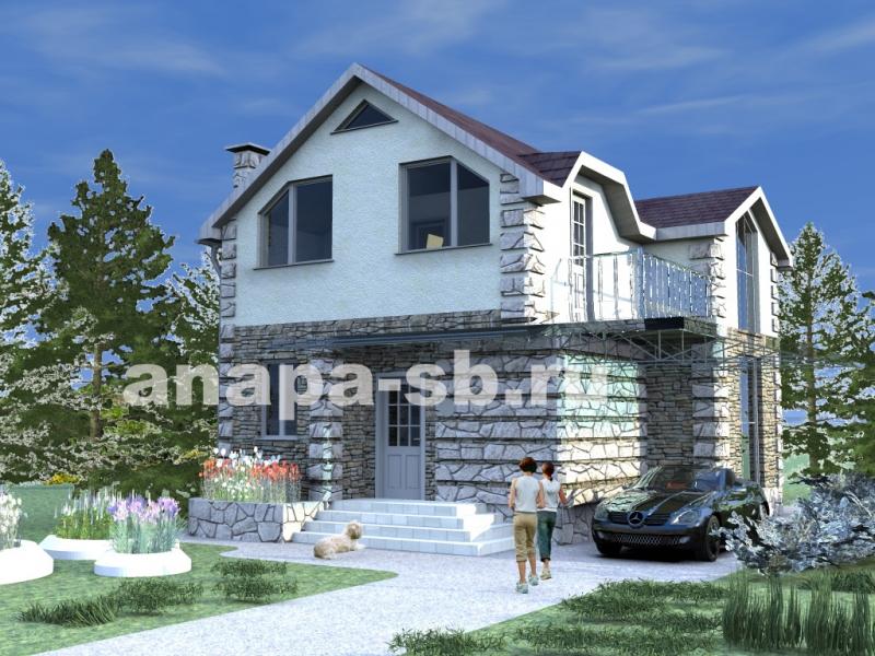 Проект 1.5 этажного дома 128 кв.м.