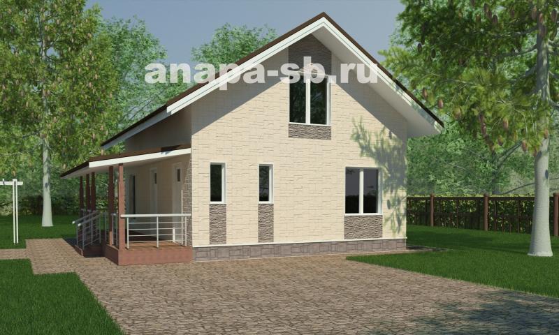 1.5 этажный дом с мансардой 150 кв.м.
