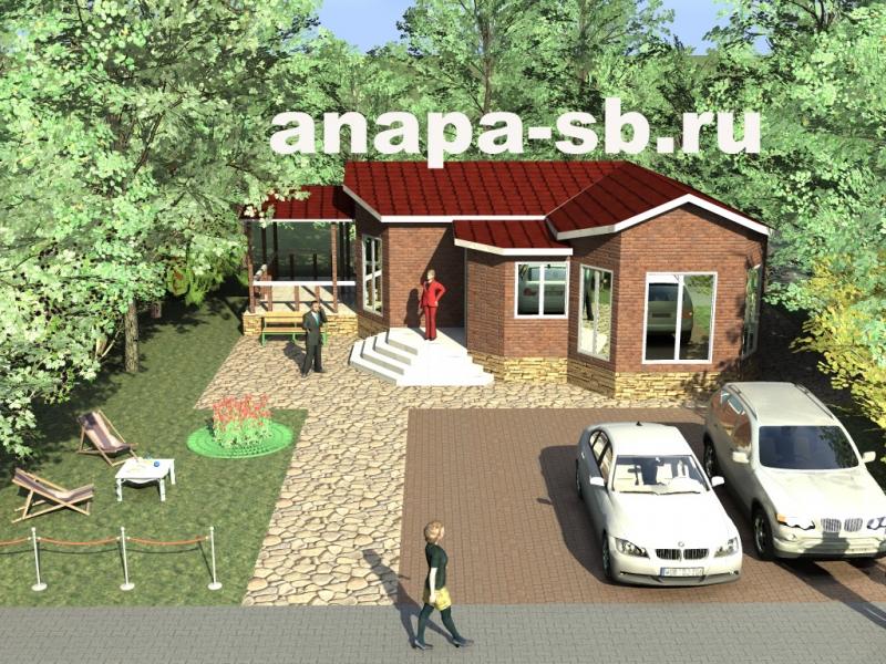 Проект дома с террасой