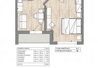 1 комнатная квартира в жк «Южный квартал» город Анапа.