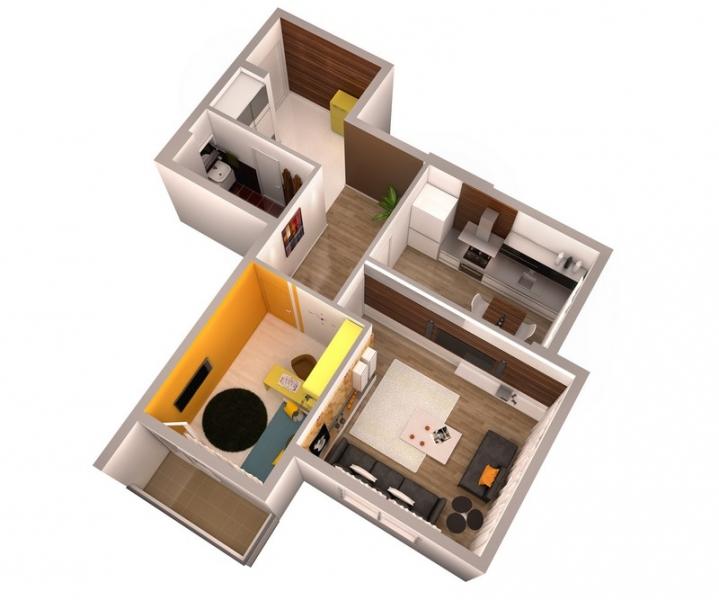 2-х комнатная квартира 51 кв.м. ЖК