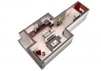 1 комнатная квартира 45 кв.м. ЖК