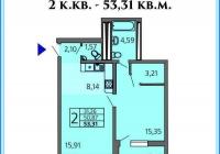 Продается в Анапе 2-х комнатная квартира 53 кв.м. ЖК
