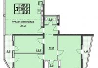3-х комнатная квартира 105 кв.м. ЖК