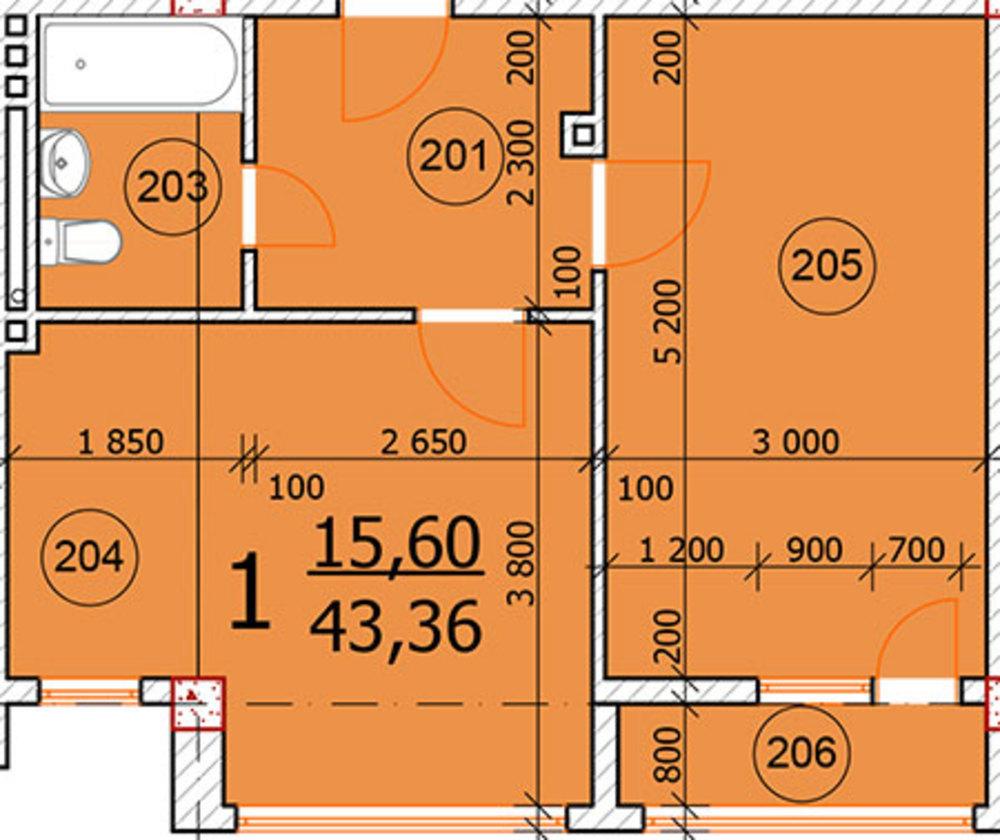 Продается 1 комнатная квартира в Анапе ул.Промышленная 2д