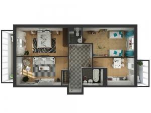 3-х комнатная квартира в ЖК